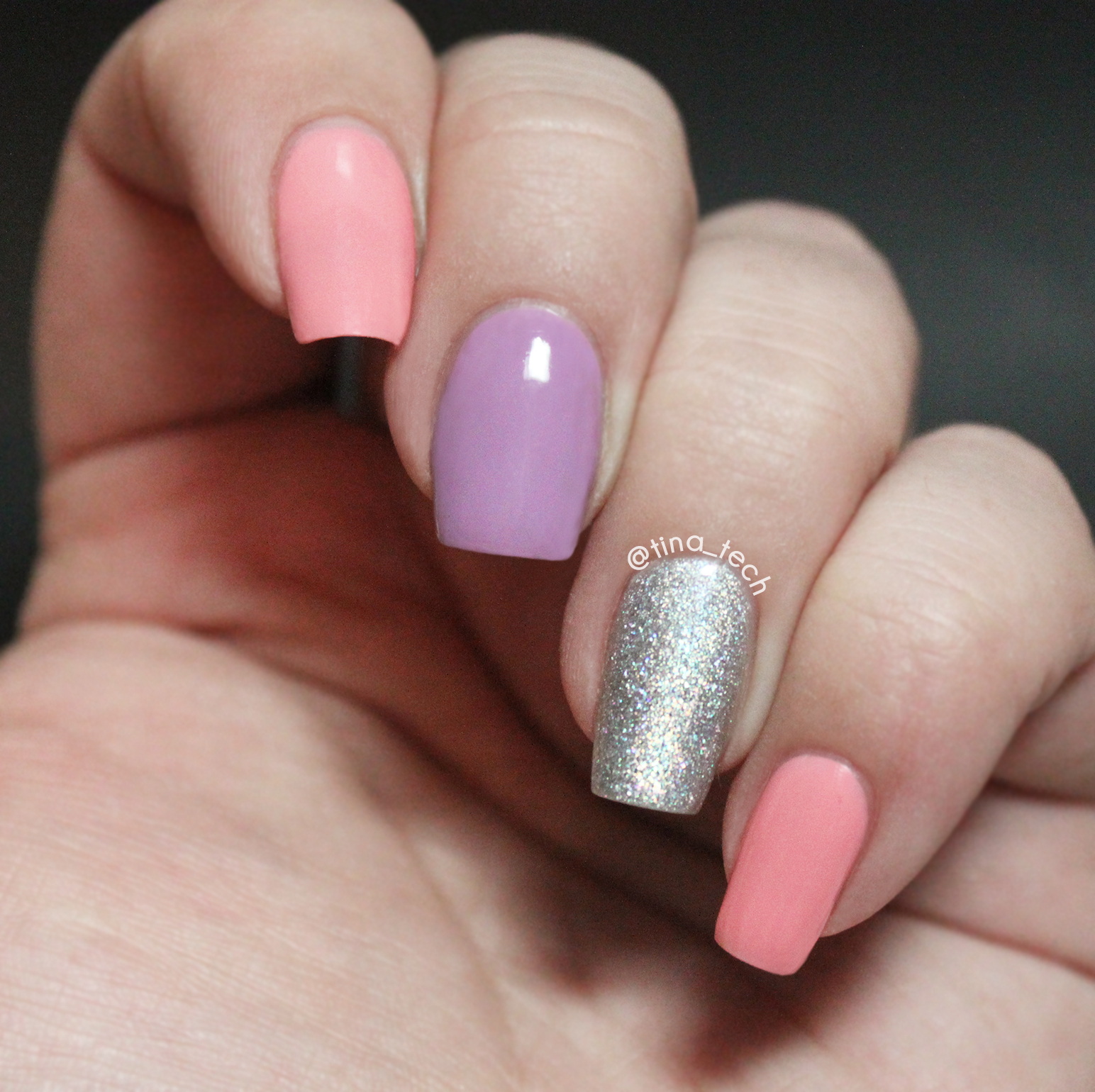 Lilac Nail Polish Designs Best Nail - Nail art lilac - DIY Lilac And Silver Glitter Nail Art With James Allen Mini. Nail