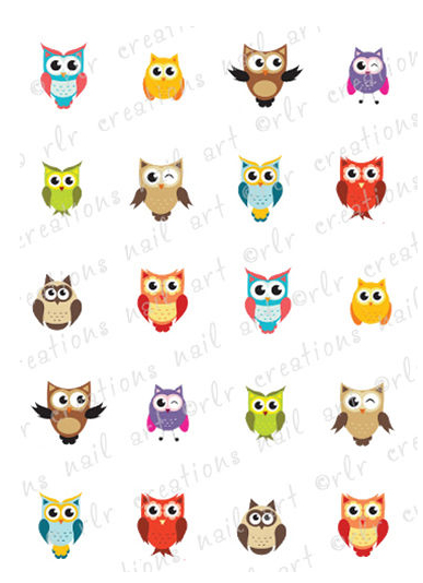 Owl Water Decal