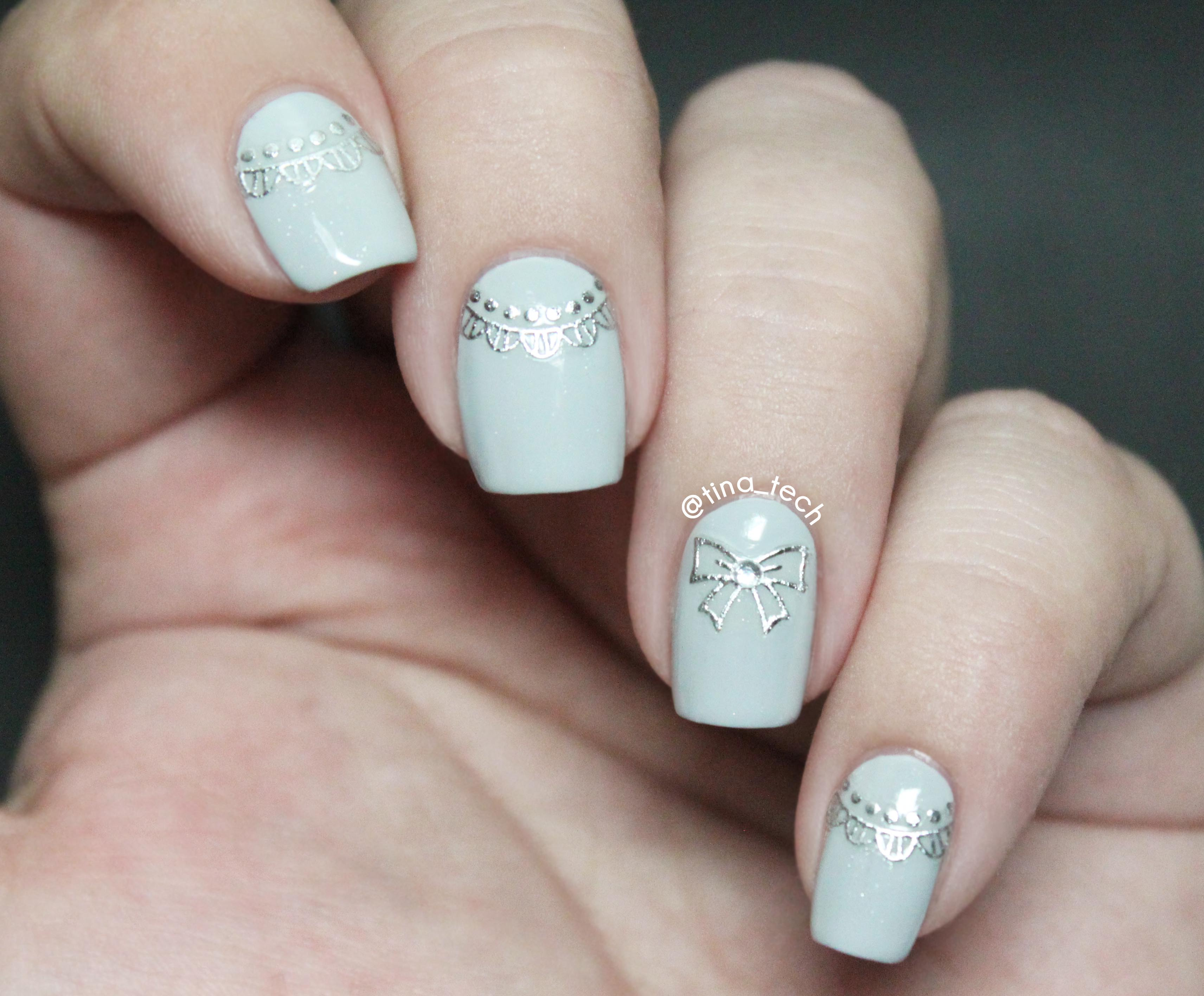 3D Design Nail Stickers Review - tina_tech
