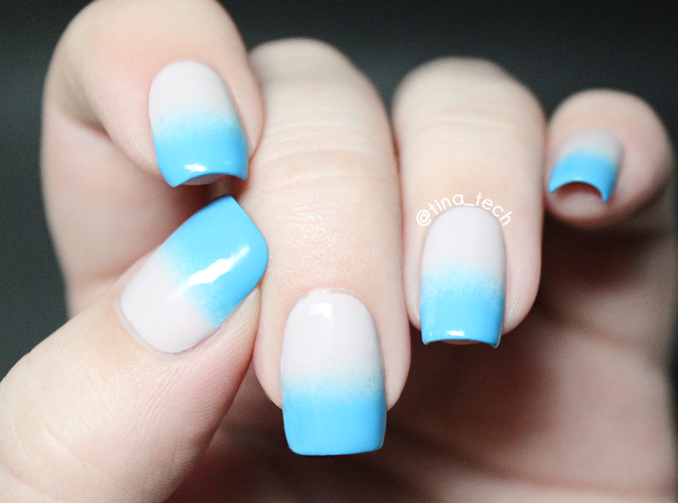 Blue Gradient Nail Art Tinatech