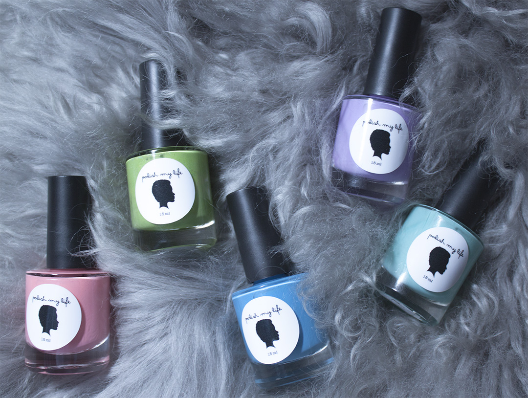 Polish My Life - Coral Fedora, Kiwi Coolata, Springtime Blues, Purple Flower Power and Mint 'Fridge