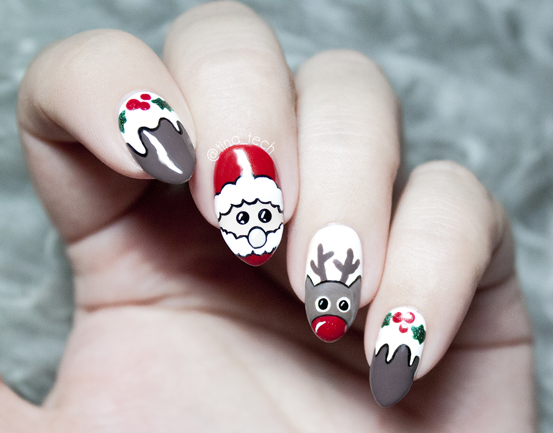 Merry Christmas Nail Art Tinatech