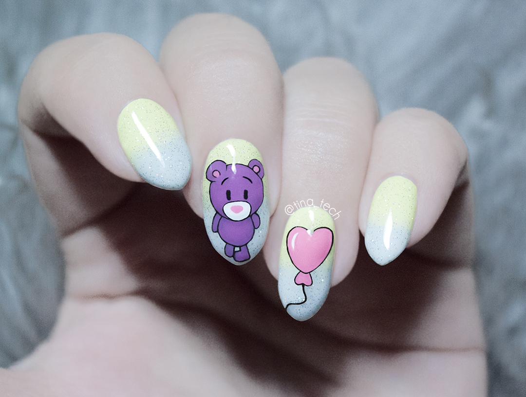 Cute Bear Nail Art