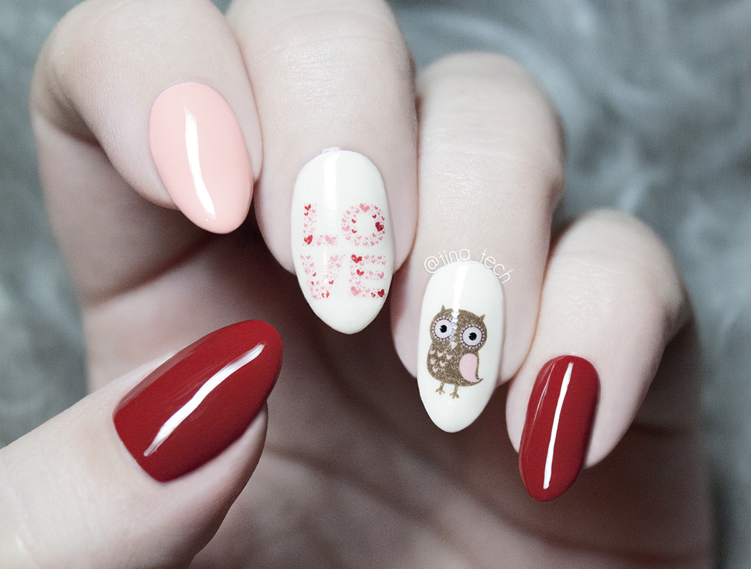 Simple Valentines Day Nail Art