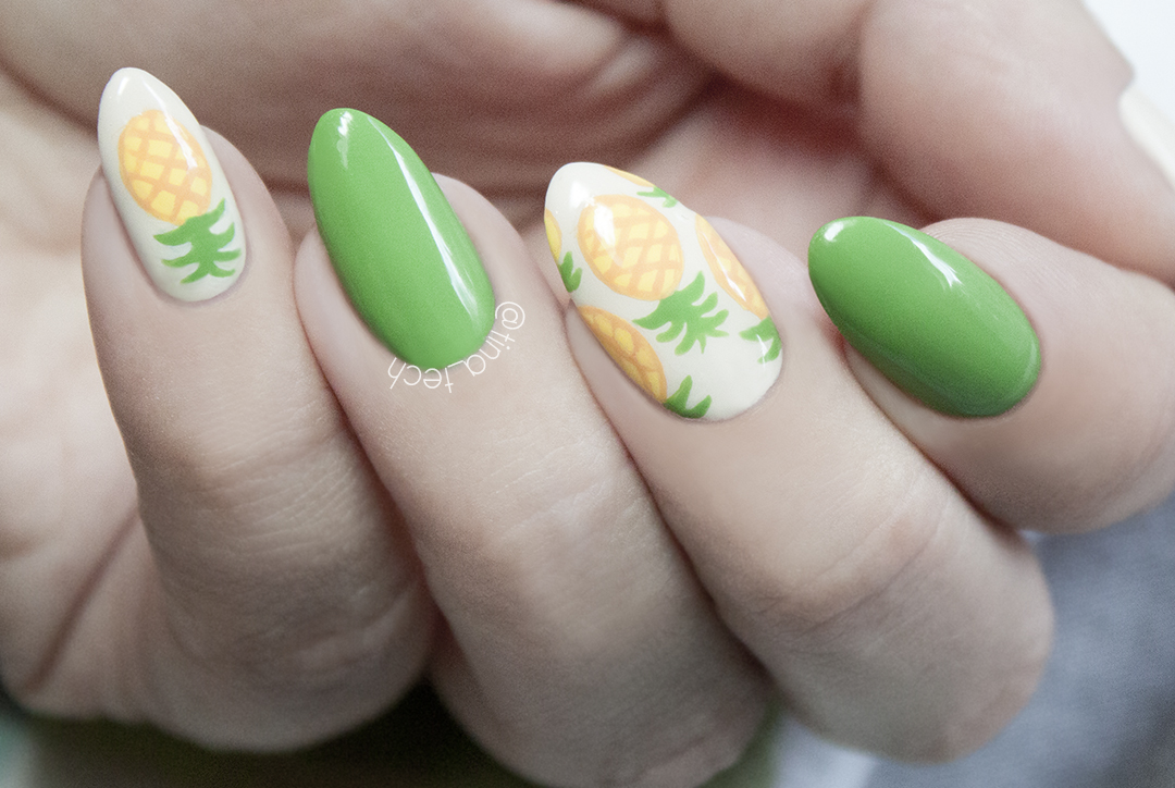 Pineapple Nails with Kinetics Nail Polish